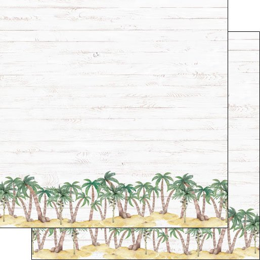 VACAY PALM BORDER DS PAPER