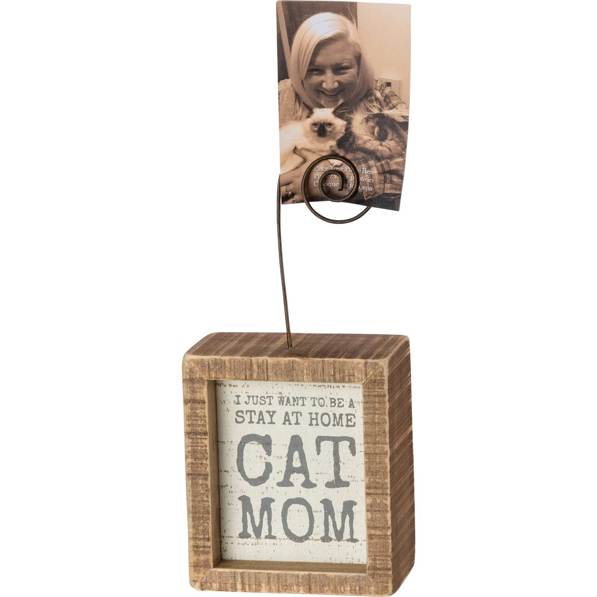 Cat Mom Insert Photo Block