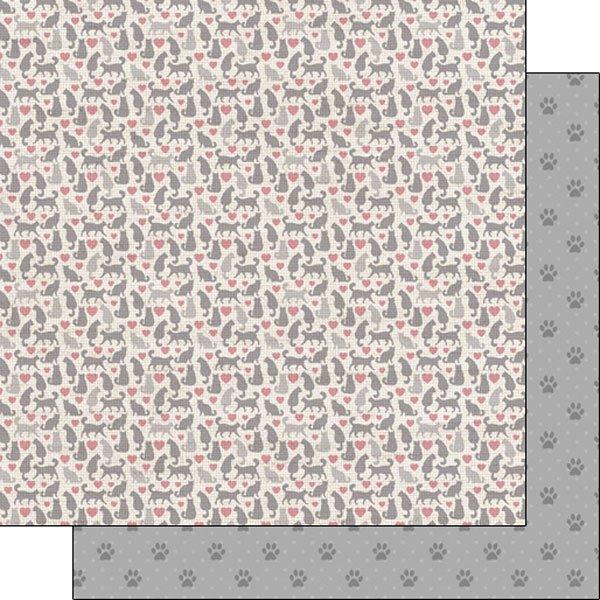 CATS & HEARTS - PAW PRINTS Paper Scrapbook Customs