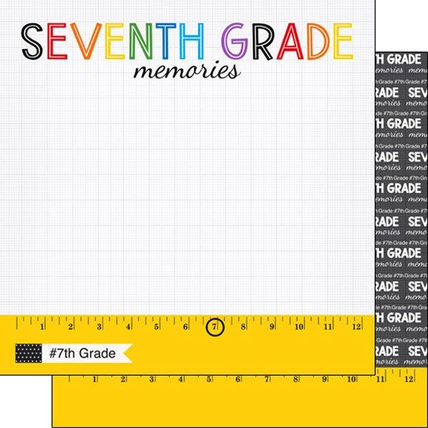 Seventh grade Ruler 12x12 paper