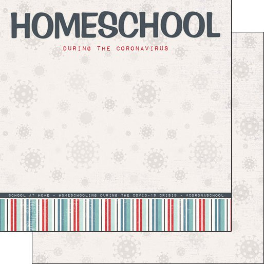 Covid-19 Homeschool Double Sided Paper