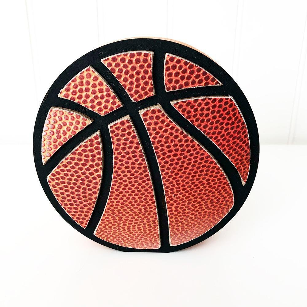 Basketball Wood Shape- Unfinished