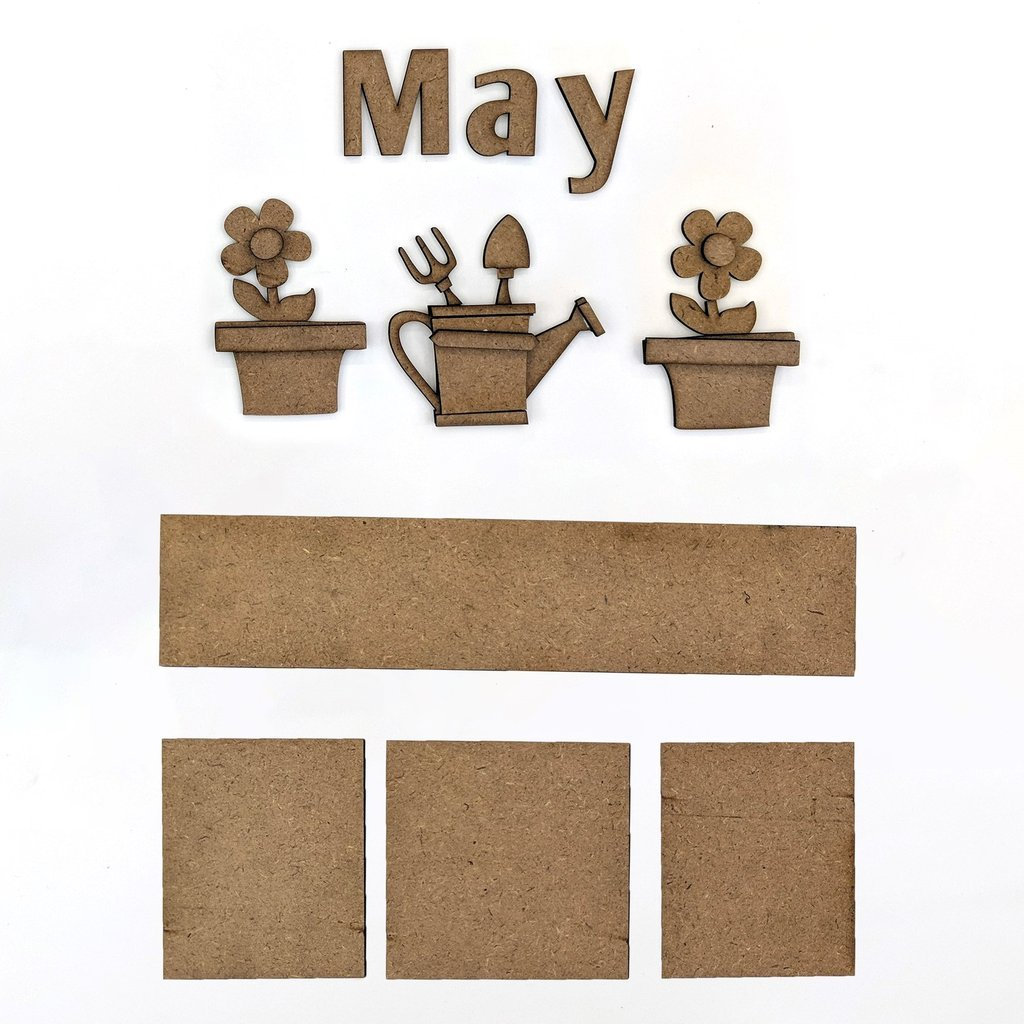 Foundations Decor - Monthly Kit for Magnetic Calendar Frame - May