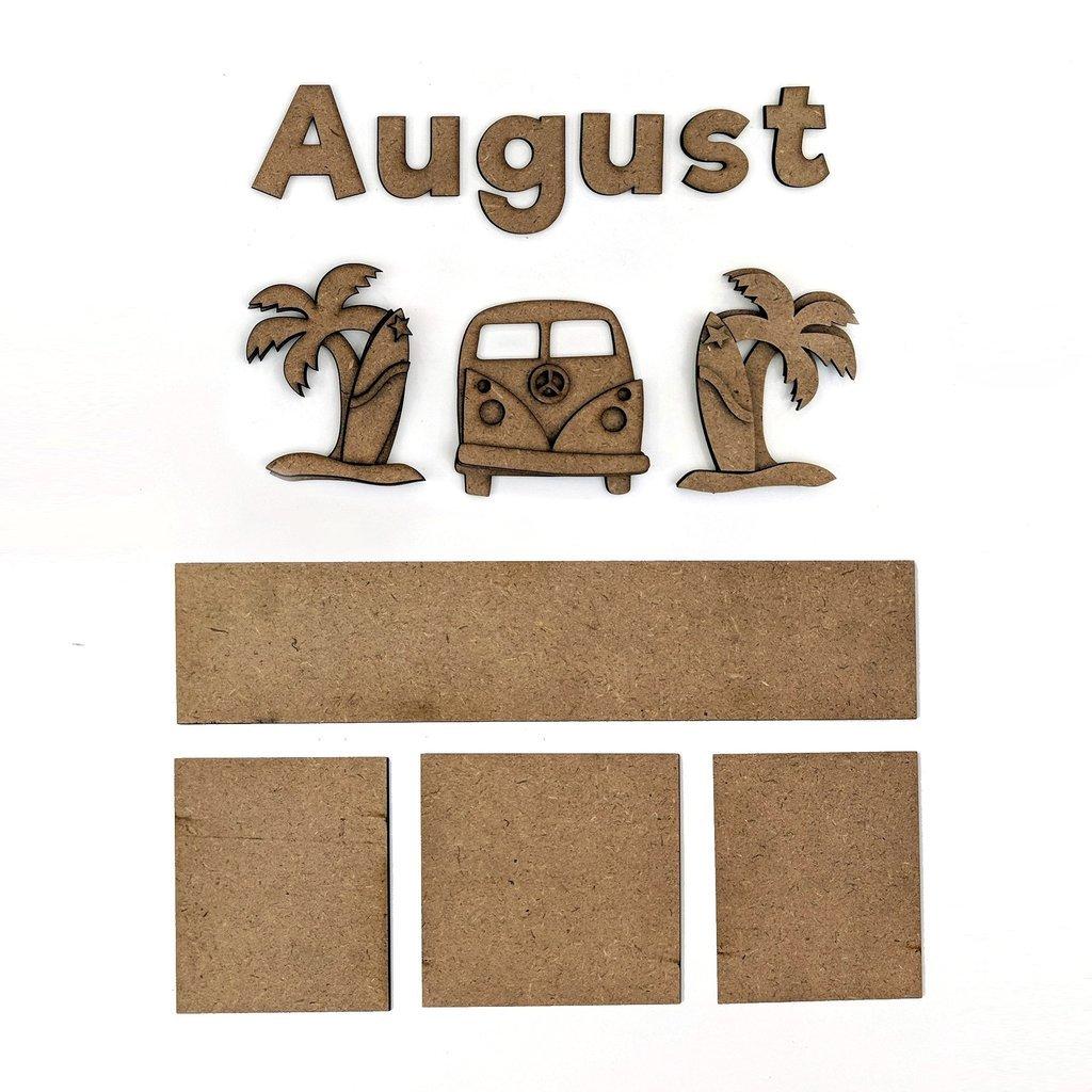 Foundations Decor - Monthly Kit for Magnetic Calendar Frame - August
