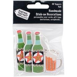 3D Toppers- Beer Bottle & Glass