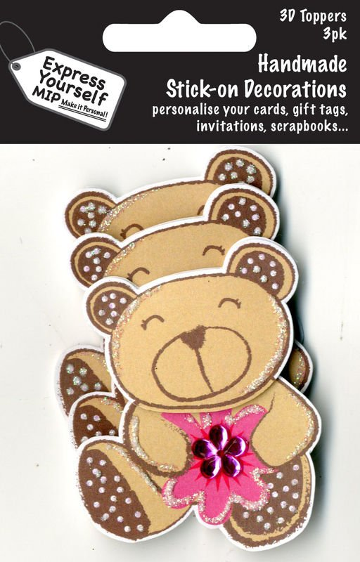 3D Toppers- Brown Bear