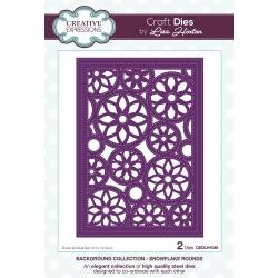 Creative Expressions Background Dies By Lisa Horton Snowflake Rounds