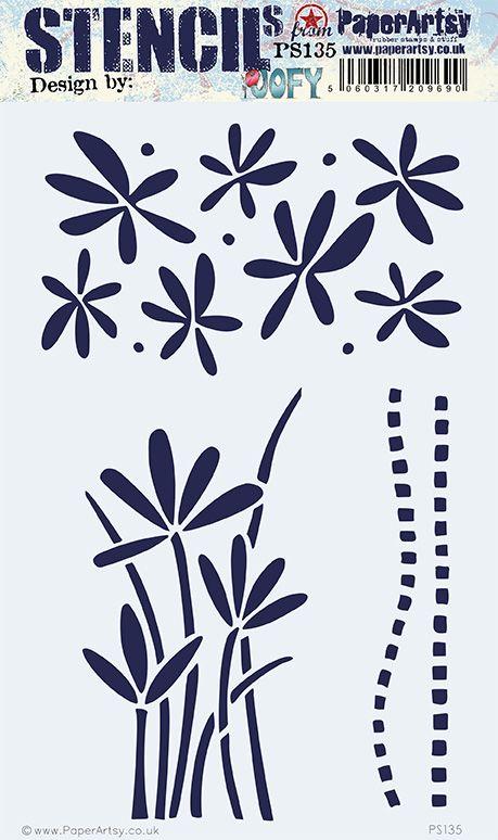 PS135 PaperArtsy JOFY Stencil PS135