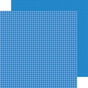Doodlebug Blue Jean gingham-linen