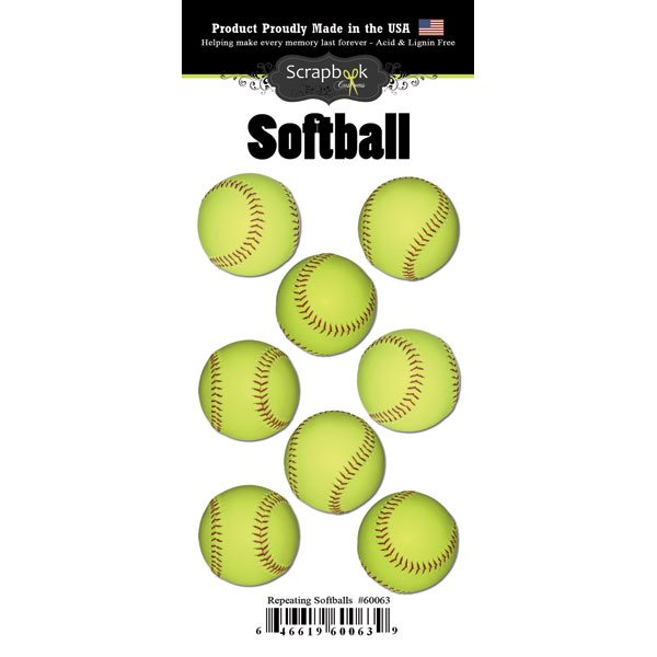 Repeating Softballs Sticker