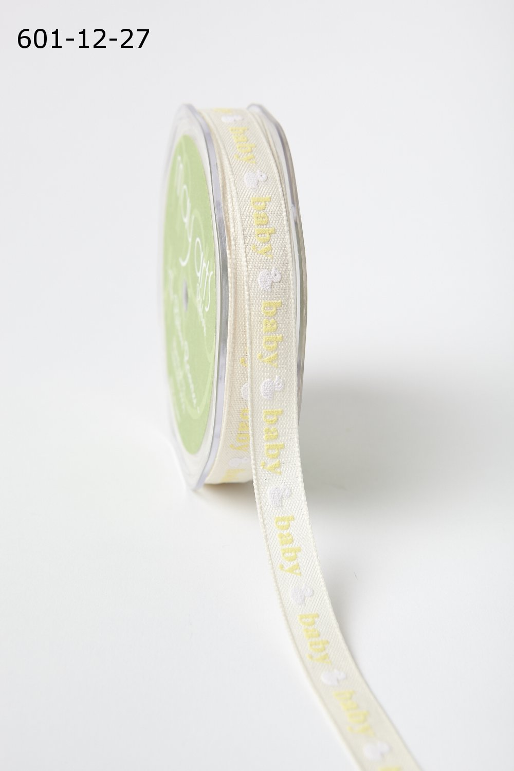 1/2 Inch Baby Duck Print Ribbon with Woven Edge