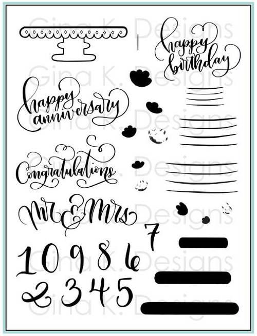 Cake Toppers Stamp Set- Gina K