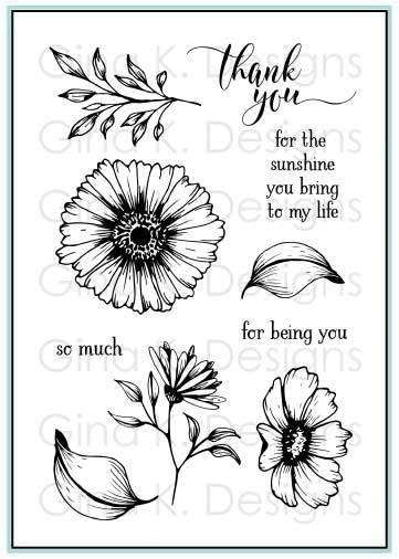 Vibrant Blooms Stamp Set- Gina K