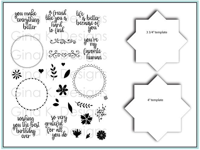 Gina K Designs- Wreath Builer Stamp and Stencil Bundle