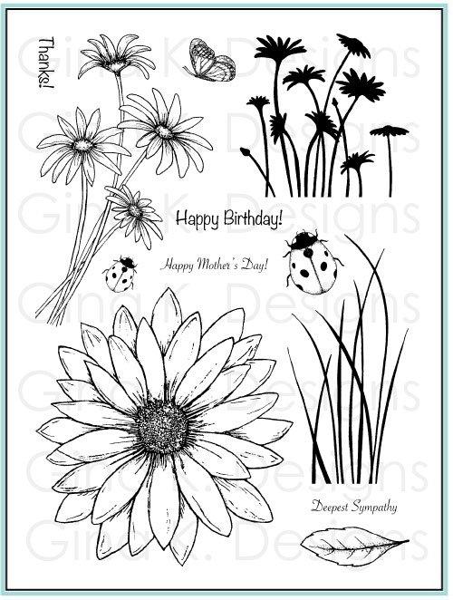 Theresa Momber Daisy Delight stamp Gina K