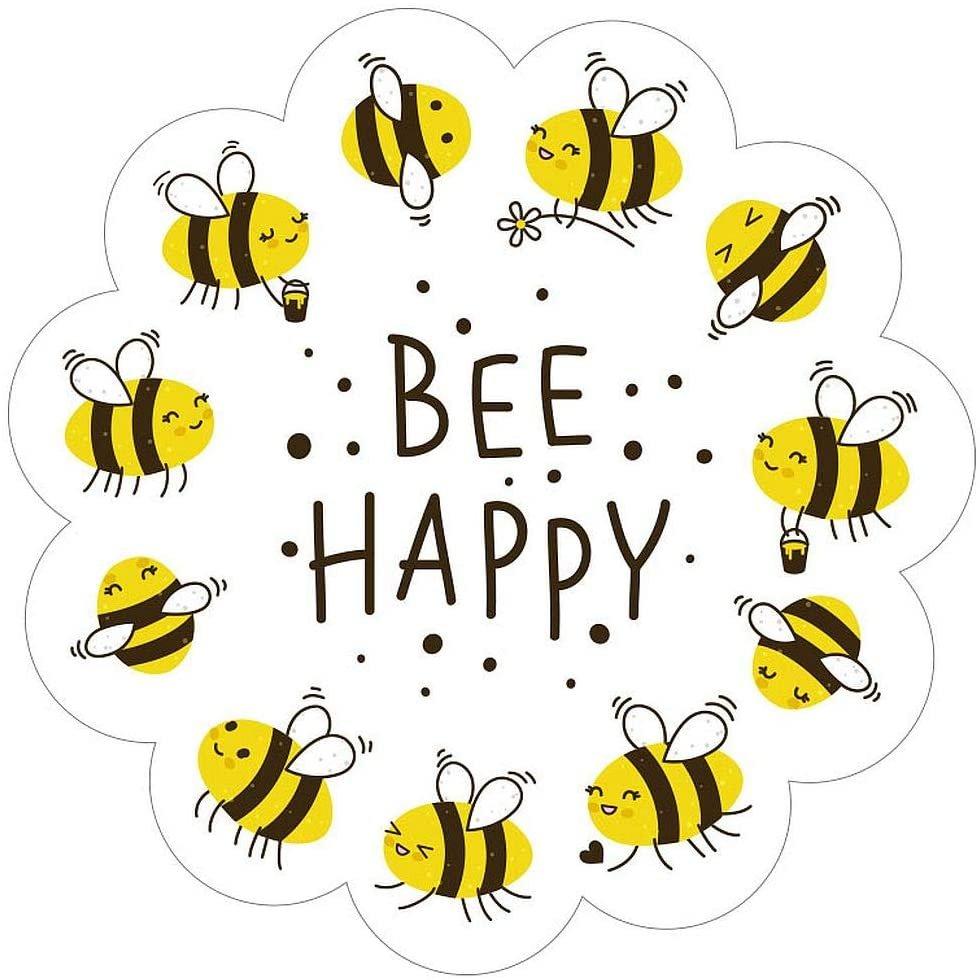 Paper House Productions Bee Happy Die-Cut 3 Vinyl Sticker