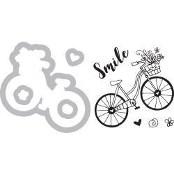 Sizzix Framelits Die & Stamp Set By Katelyn Lizardi Bicycle