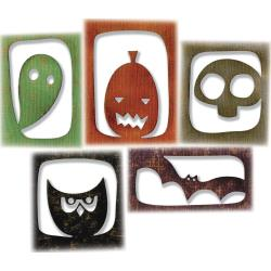 Halloween Hangouts- Sizzix Thinlits Dies By Tim Holtz 5/Pkg