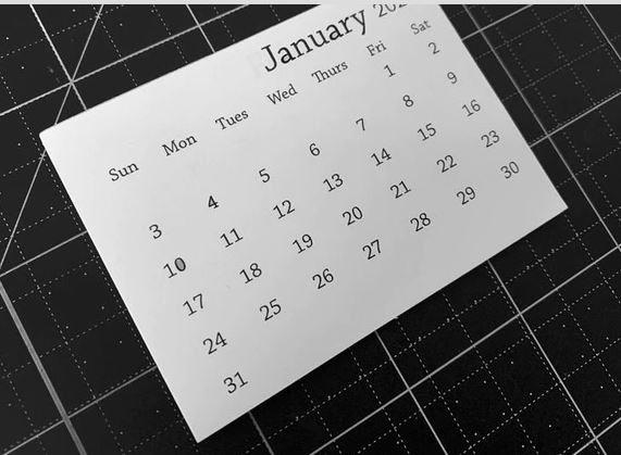 2021 Mini Tear-Off Calendar Taylored Expression