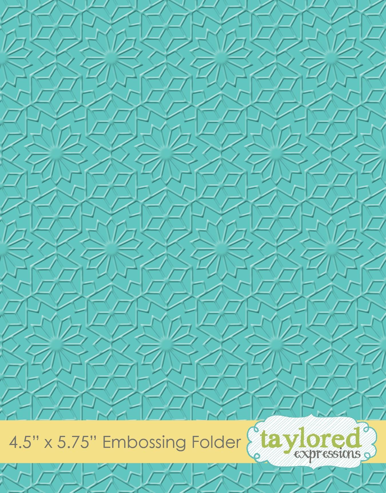 Taylored Expressions Embossing Folder- Kaleidoscope