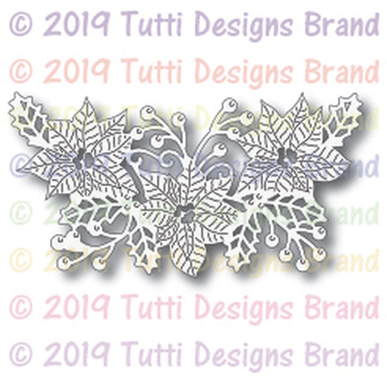 Poinsettia Arrangement die - Tutti Designs