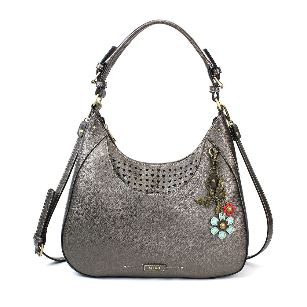 Dragonfly - SWEET HOBO/TOTE- Pewter