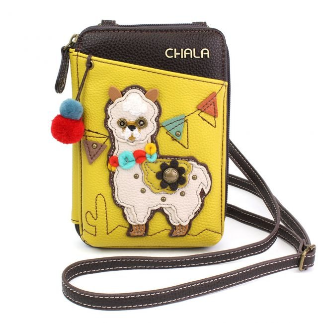 Llama Mustard  Wallet Crossbody Chala Bag