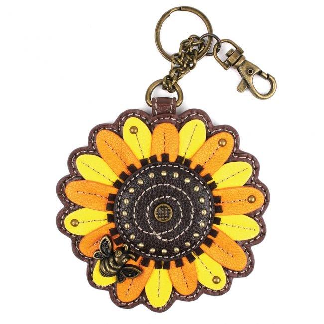 Sunflower Key Fob/ Coin Purse Chala