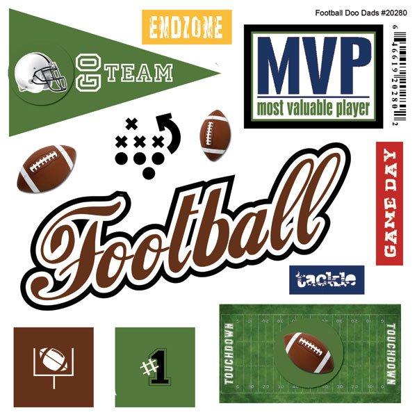 Football Sticker Doo Dads - Scrapbook Customs