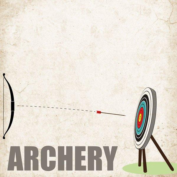 Archery- on target