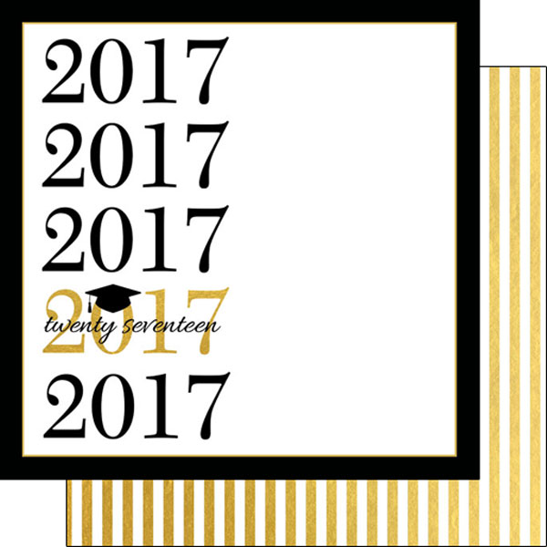 2017 Capped Gold 12x12 Paper
