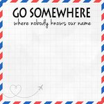 Go Somewhere Paper- 12X12