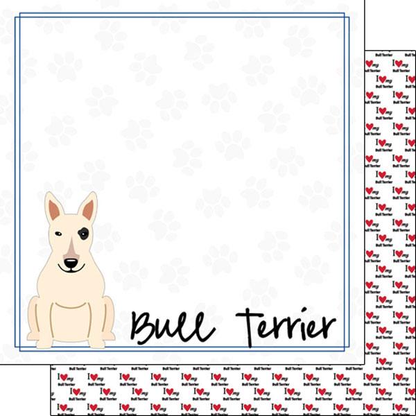 Bull Terrier Border 12x12
