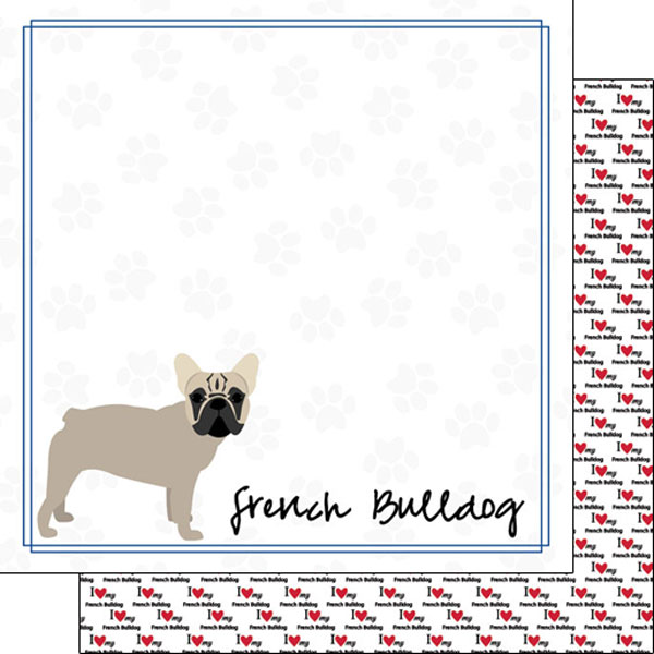 French Bulldog Border 12x12