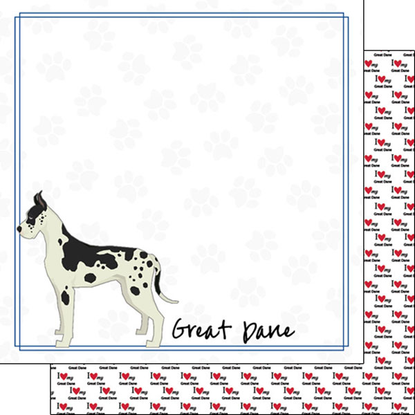 Great Dane Border 12x12