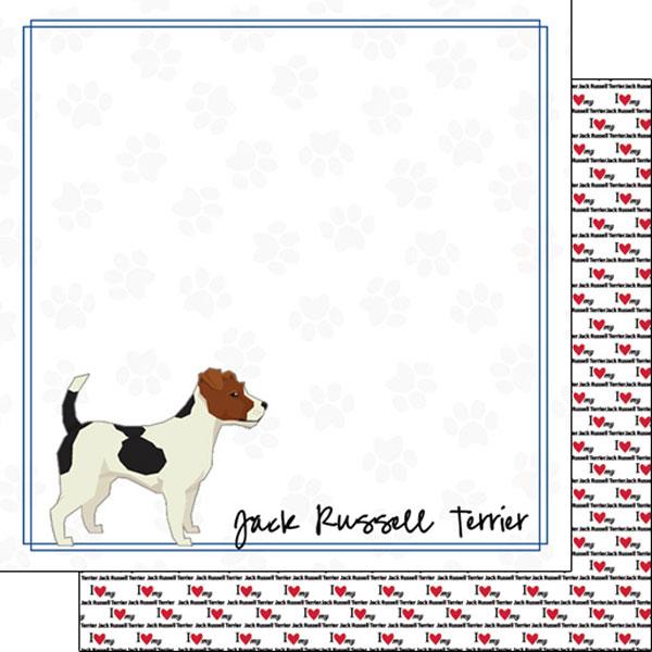 Jack Russel Terrier Border 12x12