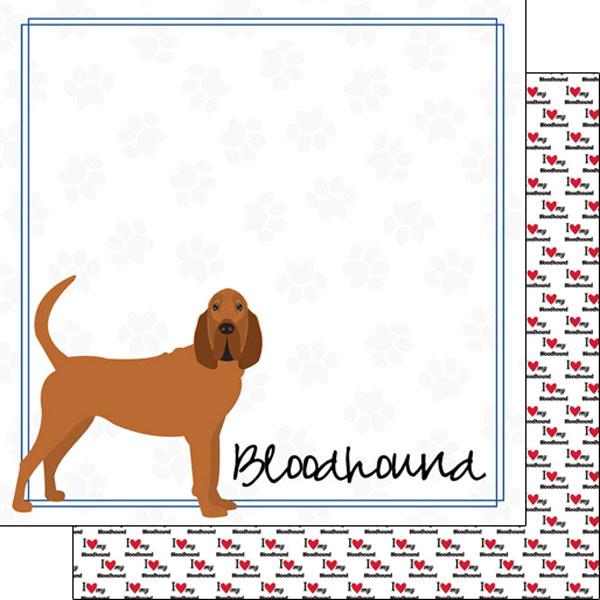 Bloodhound Border 12x12