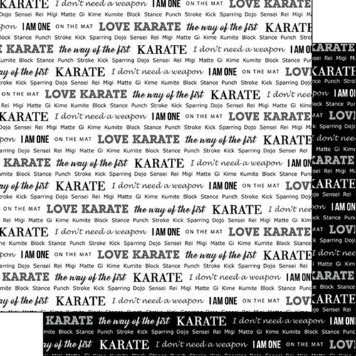 Scrapbook Customs Paper- Karate Pride