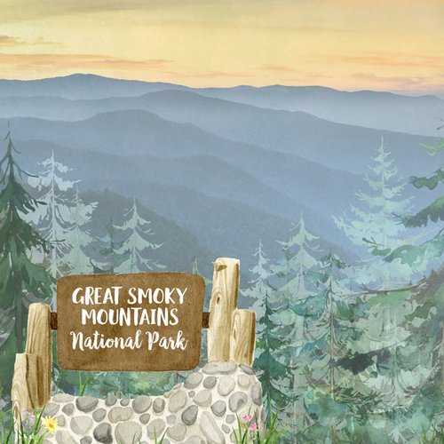 Scrapbook Customs Paper- Great Smoky Mountains National Park