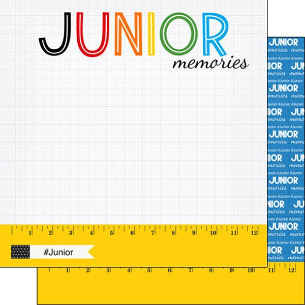 Junior Ruler 12x12 paper - Scrapbook Customs