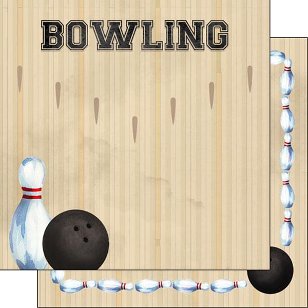 Bowling Watercolor 12x12 paper