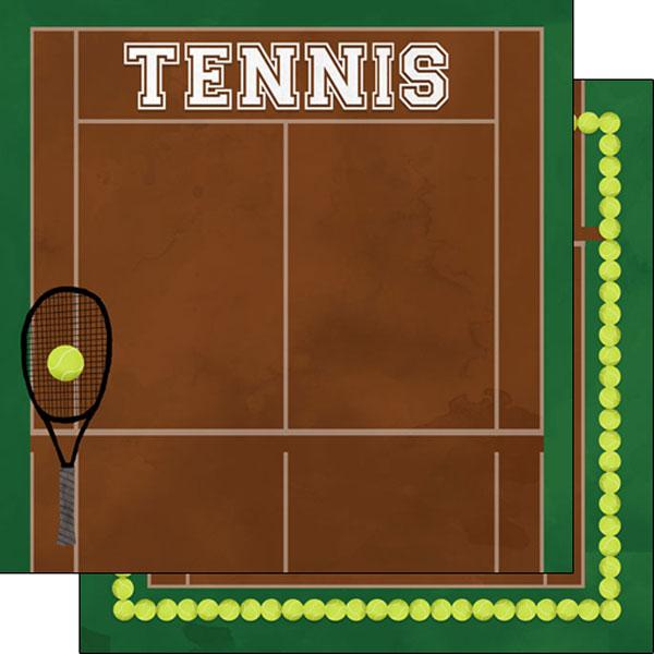 Scrapbook Customs Tennis Watercolor 12x12