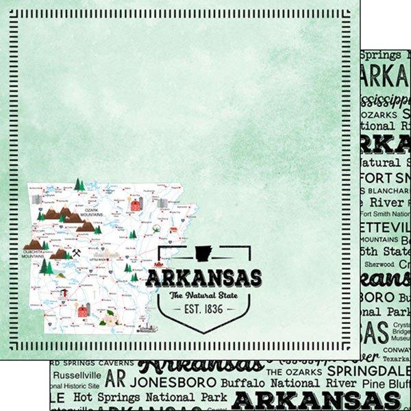 Arkansas State 12x12 paper