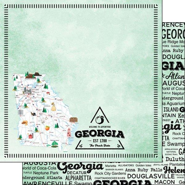 Georgia State 12x12 paper