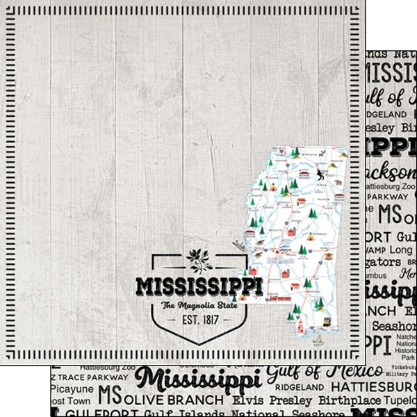 Mississippi State 12x12 paper