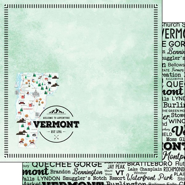 Vermont State 12x12 paper