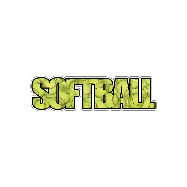 Softball Word Image Sticker