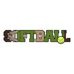 Softball Dimensional Word Sticker