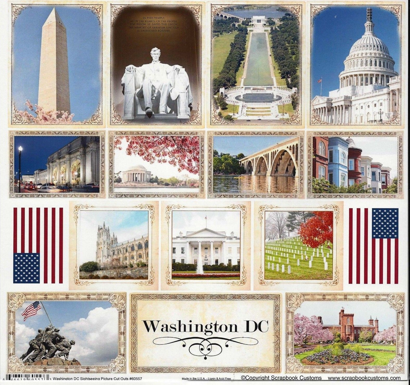 Scrapbook Customs- Washington DC Picture Cut Outs