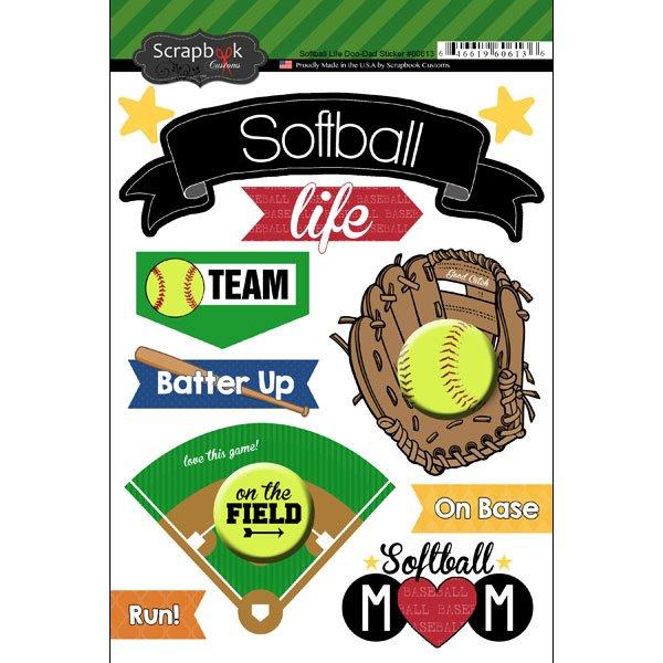 Softball Life Doo Dads